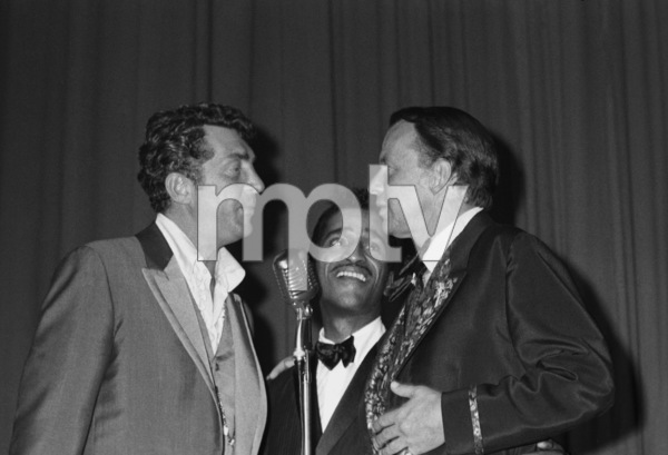 Frank Sinatra, Dean Martin and Sammy Davis Jr. at a Share Party1963 © 1978 Chester Maydole - Image 11078_0012