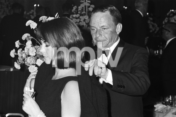 """Frank Sinatra and Natalie Wood at the premiere of """"My Fair Lady""""1964 © 1978 Chester Maydole - Image 11078_0016"""