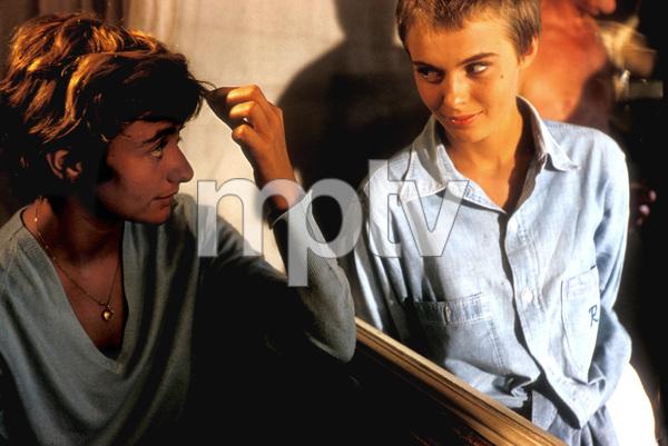 """Bonjour Tristesse""Francoise Sagan (Author), and Jean Seberg on the set/1957 © 1978 Bob Willoughby - Image 11102_0005"