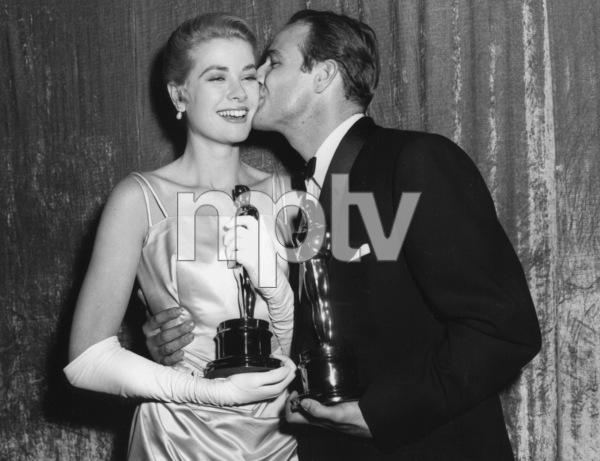"""Academy Awards - 27th Annual""Grace Kelly, Marlon Brando1955**I.V. - Image 11156_0032"