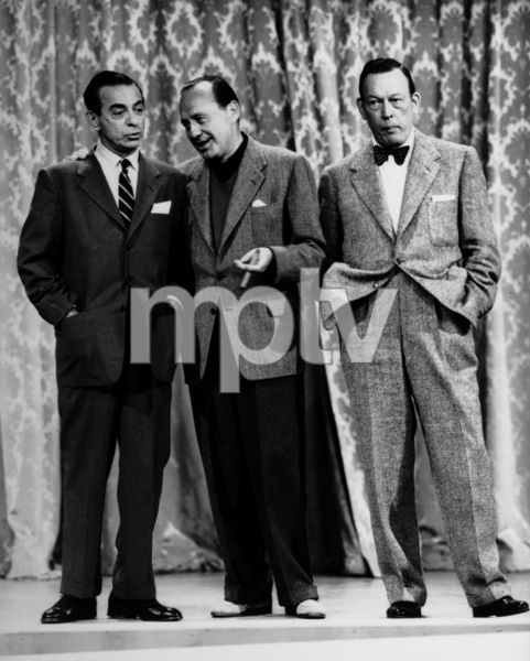 """The Jack Benny Show""Eddie Cantor, Jack Benny, Fred Allen1955Photo By Gabi Rona - Image 11164_6500"