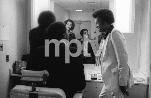 The Temptations in the Soul Train dressing room (Melvin Franklin, Otis Williams, Richard Street, Glenn Leonard, Dennis Edwards)circa 1978© 1978 Bobby Holland - Image 11308_0007