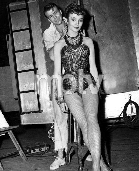 """Patrice Wymore and Gene Nelson during the filming of """"Tea for Two""""1950Photo by Jack Albin - Image 11320_0026"""