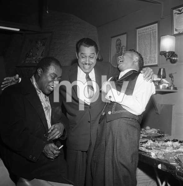 """""""Billy Daniels Party""""Louis Armstrong, Cab Calloway, Billy Daniels1955 © 1978 David Sutton - Image 1142_0004"""