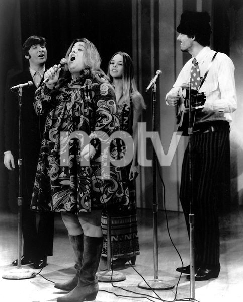 """The Mamas and the Papas""Mama Cass Elliot, Michelle Phillips, John Phillips, and Denny Dohertycirca 1965**I.V. - Image 11569_0010"