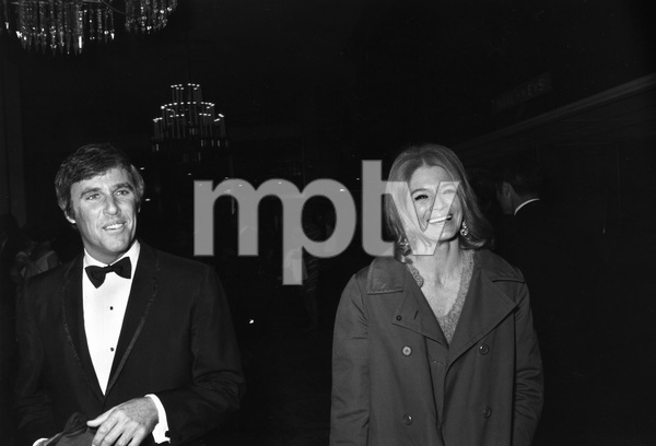 """Kennedy Fundraiser""Angie Dickinson with Burt Bacharach at the Beverly Hilton Hotel in Beverly Hills, California1969 © 1978 Gunther - Image 11696_0002"