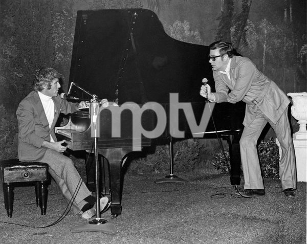 Composer Burt Bacharach and Producer Ross Hunter, on the set of LOST HORIZON, I.V. - Image 11707_0018