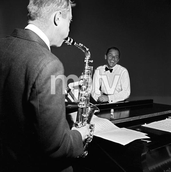 """The Frank Sinatra Timex Show"" (Bing Crosby and Dean Martin Present High Hopes) Frank Sinatra rehearsing 1959 © 1978 Gene Howard - Image 1198_0032"