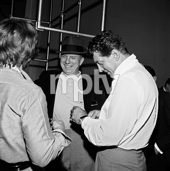 """""""The Frank Sinatra Timex Show"""" (Bing Crosby and Dean Martin Present High Hopes) Jimmy Van Heusen and Dean Martin behind the scenes 1959 © 1978 Gene Howard - Image 1198_0033"""