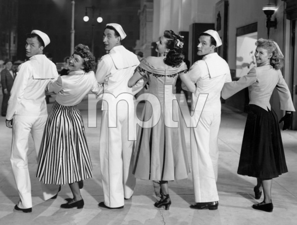 """""""On the Town""""Frank Sinatra, Betty Garrett, Jules Muschin, Ann Miller, Gene Kelly, Vera Ellen1949 MGM**I.V. - Image 11997_0013"""