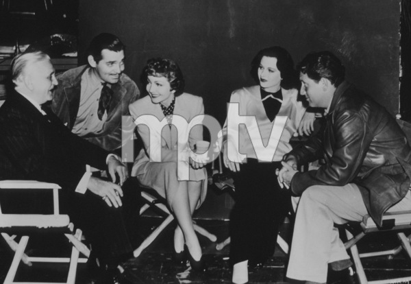 """""""Boom Town""""Frank Morgan, Clark Gable, Claudette Colbert,Hedy Lamarr, Spencer Tracy on the set1940 MGMMPTV - Image 12006_0004"""