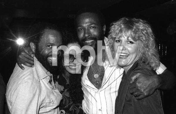 Berry Gordy Jr., Janis Gaye, Marvin Gaye and Nancy Leiviska at Marvin Gaye