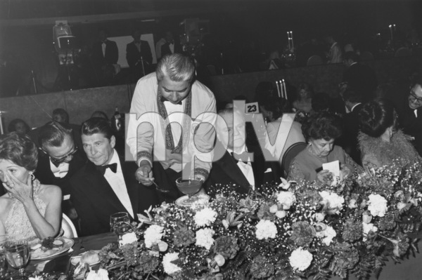 """James Cagney Award Celebration""Ronald & Nancy Reagan,James Cagney3-13-74 © 1978 Gunther - Image 12249_0003"