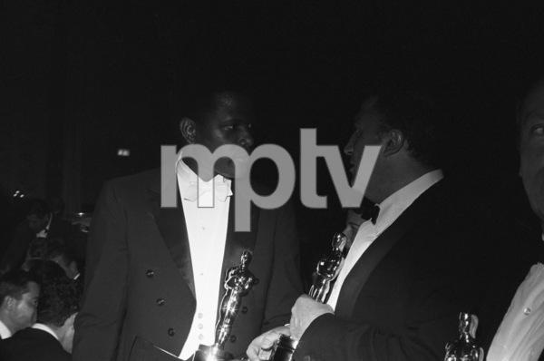 """The 36th Annual Academy Awards""Sidney Poitier, Federico Fellini1964 © 1978 David Sutton - Image 12363_0004"