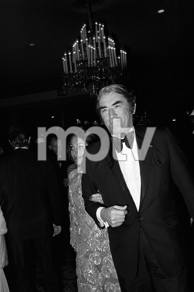 """John Ford Tribute""Gregory Peck, Veronique Passanicirca 1976 © 1978 Gunther - Image 12448_0013"