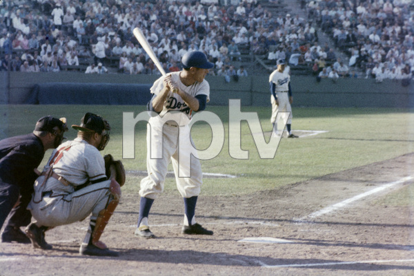 The Los Angeles Dodgers playing at the Los Angeles Memorial Coliseumcirca 1960 © 1978 Bernie Abramson - Image 12577_0012