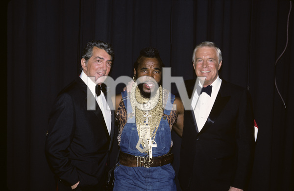 """""""The A-Team"""" (Event) Dean Martin, Mr. T, George Peppard 1984 Photo by Paul Drinkwater ** H.L. - Image 12608_0047"""