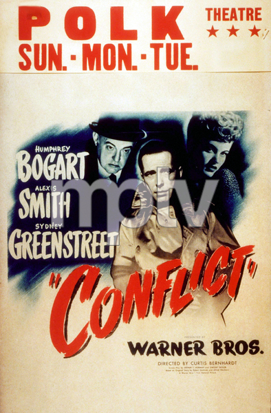 """Conflict""Humphrey Bogart, Alexis Smith, and Sydney Greenstreet1945 Warner Bros.MPTV - Image 12940_0003"