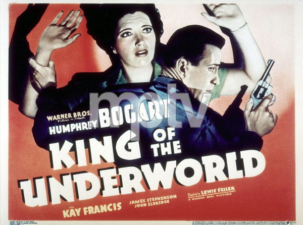 """King of the Underworld""Humphrey Bogart and Kay Francis1938 Warner Bros.MPTV - Image 12941_0002"