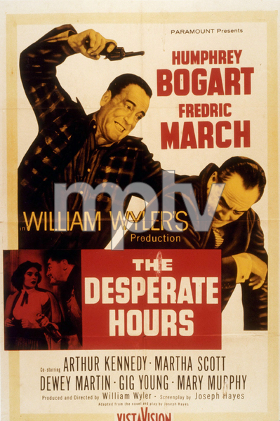 """The Desperate Hours""Humphrey Bogart and Fredric March1955 ParamountMPTV - Image 13183_0001"