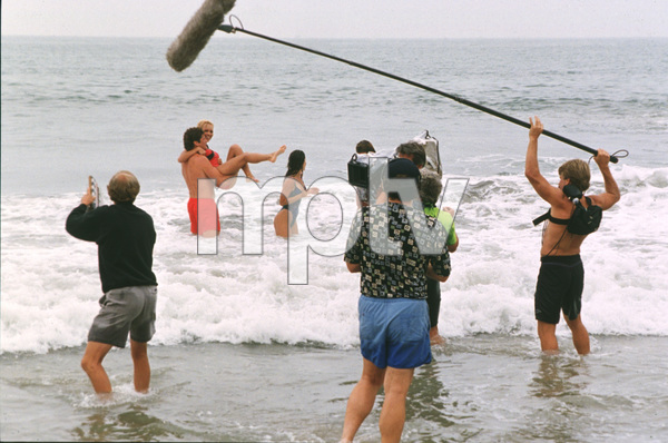 """Baywatch""David Hasselhoff, Pamela Anderson on the set1994 All American TV © 1994 Bud Gray / MPTV - Image 1321_0012"