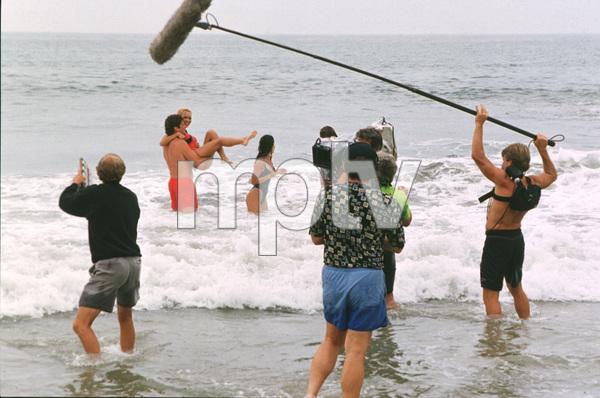 """Baywatch""David Hasselhoff, Pamela Anderson on the set1994 All American TV © 1994 Bud Gray / MPTV - Image 1321_0012"