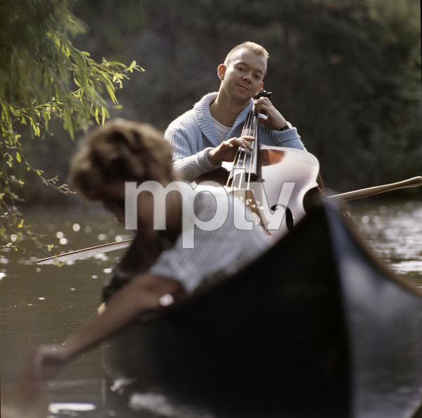 """Don Bagley during an album cover photo session for """"The Soft Sell""""1957© 1978 Ken Whitmore - Image 13222_0002"""