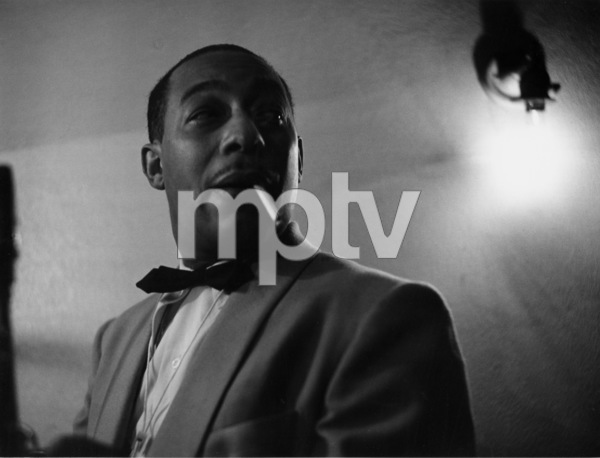 Johnny Hodges backstage at the Shrine Auditorium for Gene Norman