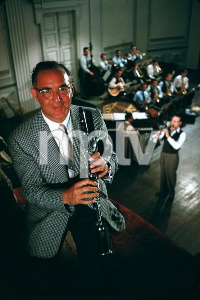 """The Benny Goodman Story,"" Universal 1955.Benny Goodman and Steve Allen (background). © 1978 Bob Willoughby / MPTV - Image 13326_35"