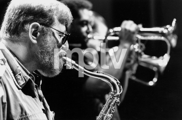 "N.Y. Jazz Giants: Lew Tabackin, John Faddis, and Tom Harrell at the ""Jazz Gipfel"" concert, Stuttgart, Germany, 1992. © 1978 Bob Willoughby / MPTV - Image 13371_30"