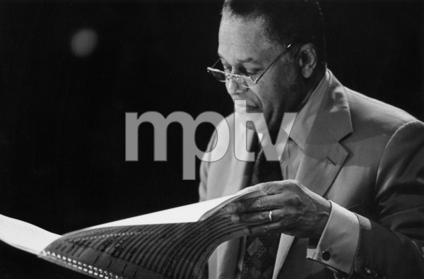 """John Lewis of the MJQ at the """"Jazz Gipfel"""" concert, Stuttgart, Germany, 1992. © 1978 Bob Willoughby / MPTV - Image 13377_1"""