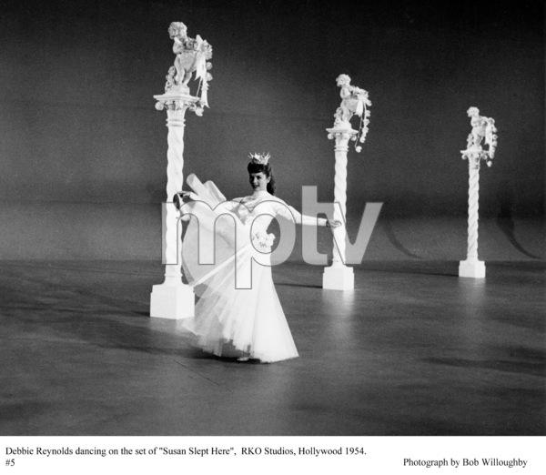 """""""Susan Slept Here"""" Debbie Reynolds on the set1954 RKO © 1978 Bob Willoughby - Image 1338_0003"""