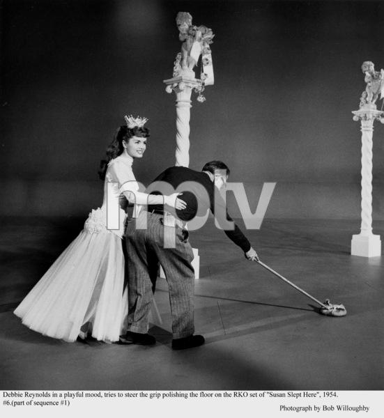 """""""Susan Slept Here"""" Debbie Reynolds on the set1954 RKO © 1978 Bob Willoughby - Image 1338_0005"""