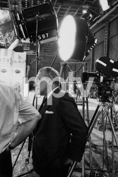 """Frederick Lowe (composer) on the set of """"My Fair Lady,"""" Warner Bros. 1963. © 1978 Bob Willoughby / MPTV - Image 13412_1"""
