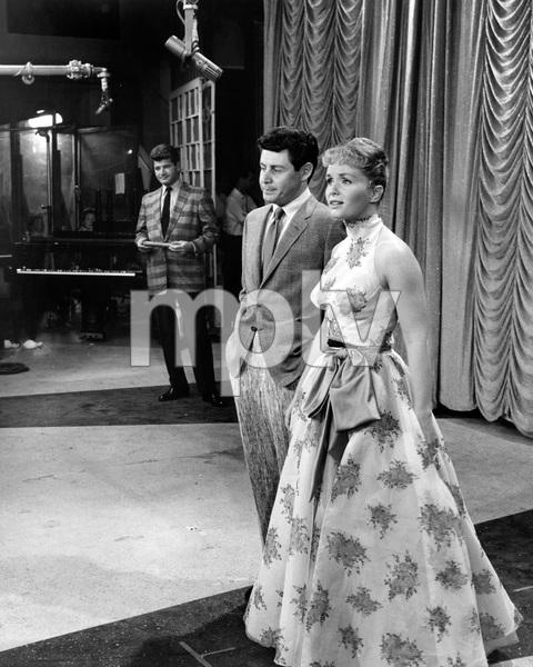 """The Eddie Fisher Show""Dick Shawn, Eddie Fisher, Debbie Reynoldscirca 1958Photo by Joe Shere - Image 13413_0007"