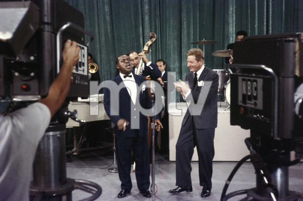 """All-Star Christmas Show""Louis Armstrong, Danny Kaye1958Photo by Gerald Smith - Image 13454_0006"