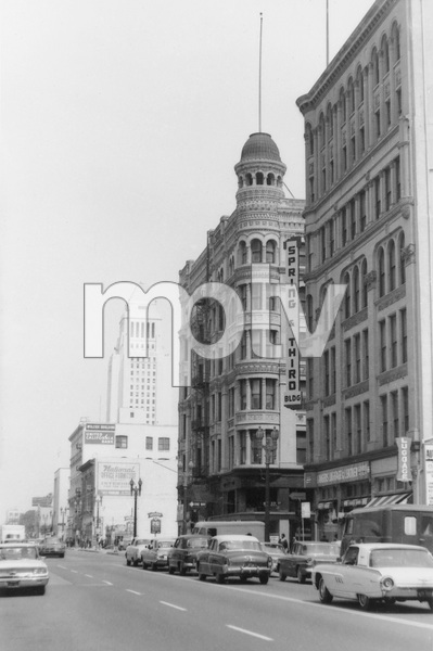 Historical CategorySimpson Building at 3rd and Spring Street, the first Skyscraper to be demolished in Los Angeles, CAMarch 1963Photo by Leo Caloia**K.B. - Image 13480_0006