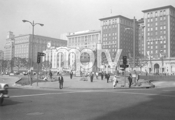 Historical CategoryPershing Square during RemodelingLos Angeles, CA9-9-1964Photo by Leo Caloia**K.B. - Image 13480_0023