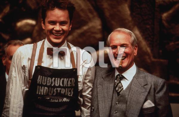 """The Hudsucker Proxy,""Tim Robbins & Paul Newman. © 1994 Warner Brothers - Image 1358_0005"