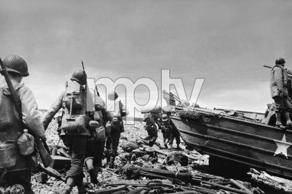 D-Day Invasion of Normandy, FranceOmaha Beach, Easy Red Sector1st Army, 1st DivisionJune 6, 1944© 1978 Herman V. Wall - Image 13651_0015