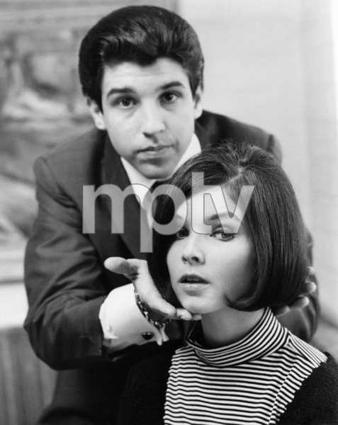 """Jon Peters and Yvonne Craig on the set of """"Ski Party""""1965 AIP** B.D.M. - Image 13729_0013"""