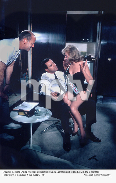 """""""How To Murder Your Wife""""Dir. Richard Quine, Jack Lemmon, Virna Lision rehearsal. 1964 Paramount. © 1978 Bob Willoughby - Image 14111_0004"""