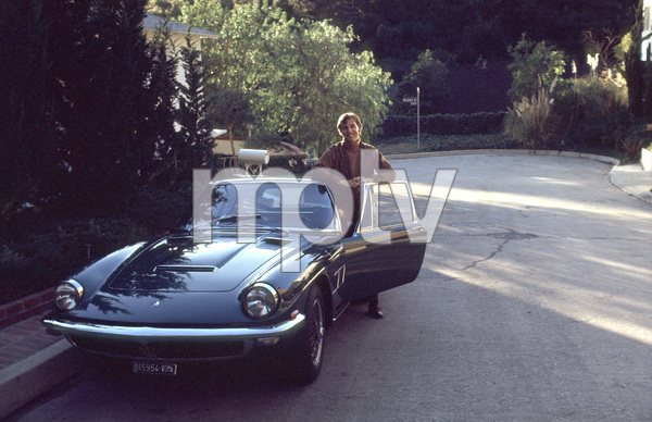 Brian Kelly at home with his 1966 Maserati Mistral, 1968 © 1978 Gene Trindl - Image 14582_0002