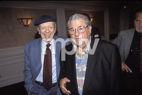 Don Knotts with Buddy Hackett at a tribute for Louis Nye held at The Sportsmen