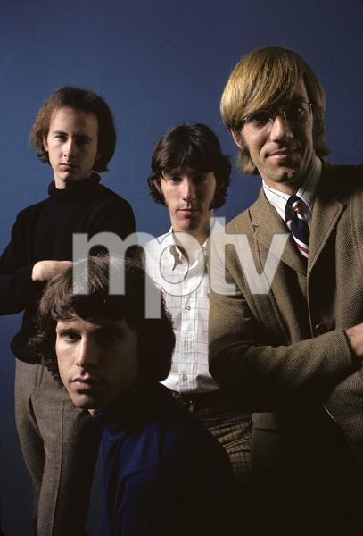 """The Doors"" Jim Morrison, Robbie Krieger, Ray Manzarek, John Densmore 1967 © 1978 Gene Trindl - Image 14731_0001"