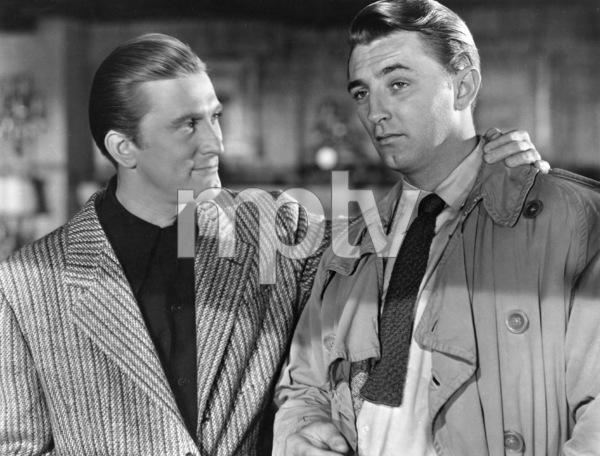 """Out of the Past""Kirk Douglas, Robert Mitchum1947 RKO**I.V. - Image 1552_0008"