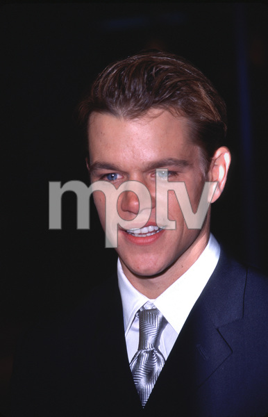 "Matt Damon at the Premiereof ""The Talented Mr. Ripley,""12/12/99. © 1999 Scott Weiner - Image 16240_0001"