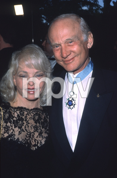 """""""Night Of 100 Stars,"""" Buzz Aldrin and wife Lois Driggs, March 26, 2000. © 2000 Scott Weiner - Image 16467_0004"""