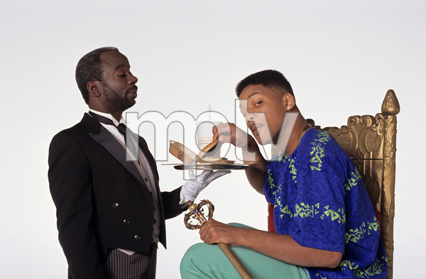 """""""The Fresh Prince of Bel-Air""""Joseph Marcell, Will Smith1990 © 1990 Mario Casilli - Image 16486_0020"""