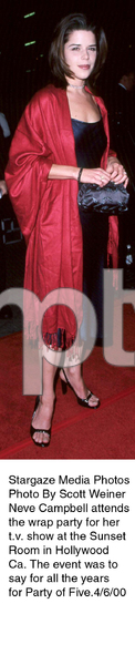 """""""Party Of Five"""" Wrap Party,Neve Campbell.  4/6/00. © 2000 Scott Weiner - Image 16686_0102"""